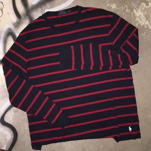 Polo Striped LS Tee